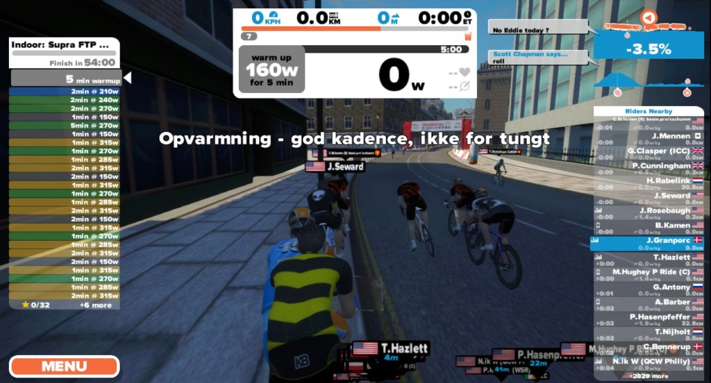 Cykeltræning med Mensch Maschine på Zwift